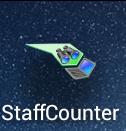 Nach der Installation erscheint das StaffCounter Icon in der Liste an Apps.