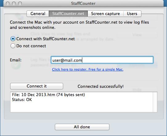 Staffcounter for MAC