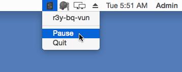 Для остановки или выключения мониторинга, используем иконку StaffСounter в панели задач наверху.
