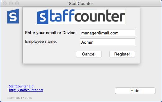 Вводим в первом поле наш e-mail, под которым мы регистрировались на сервере, а во втором оставляем имя пользователя.