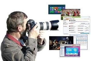снимки экрана и вебкамеры