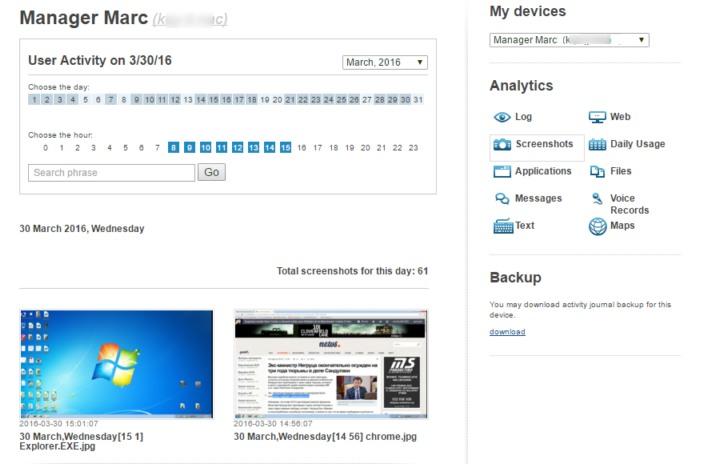 Creazione di screenshot e foto via webcam.