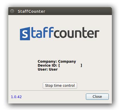 Сотрудник может открыть окно управления из панели задач и приостановитьмониторинг.