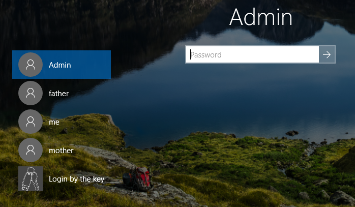 Welcome screen Windows 10.