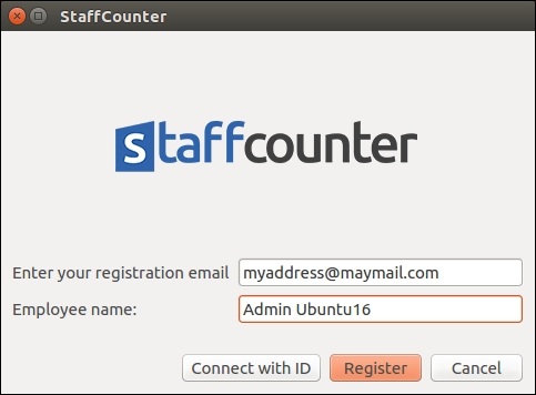 Install Staffcounter agent from this package. The language of the applicaiton will be English if the system language is English.
