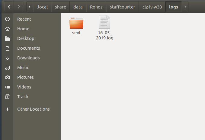 Там будет папка с названием как идентификатор устройства на сервере.