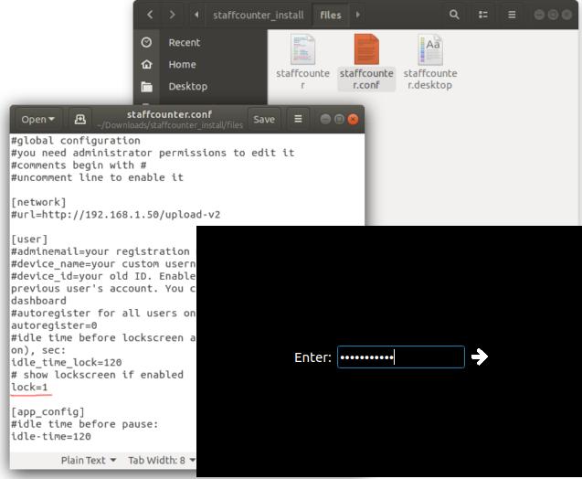 """Обладает функционалом """"Lockscreen"""": работу можно начать только при вводе ID Устройства пользователя."""