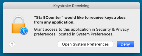 To record keystrokes, switch on this option in Settings page on server. Then the system can show the following notification.