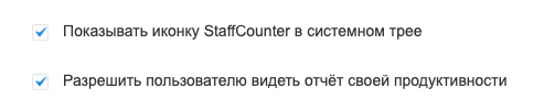Показывать иконку StaffCounter в системном трее. Разрешить пользователю видеть отчёт своей продуктивности.