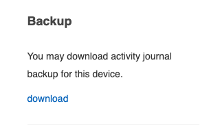 Ability to download an archive of all activity.